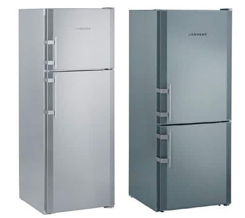 Холодильники с морозилкой сверху и снизу