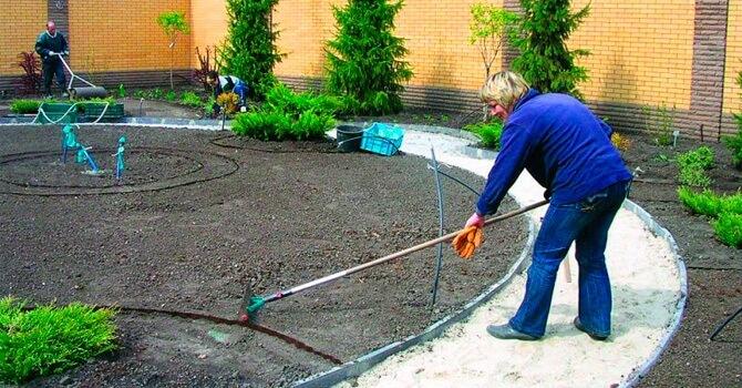 Подготовка участка перед посадкой газона
