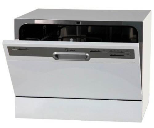 Маленькая посудомойка Midea MCFD55200W