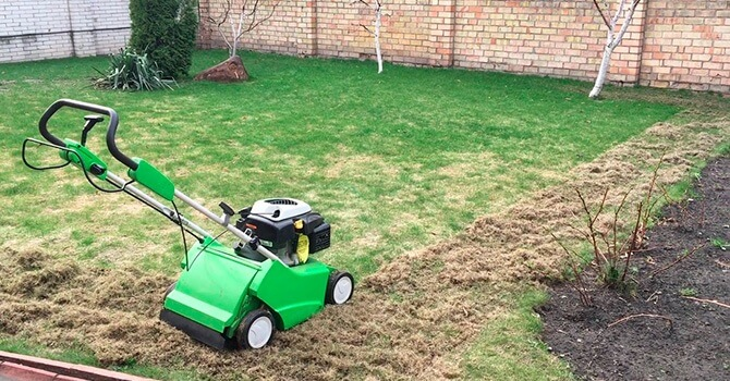 Вертикуляция газонного покрытия
