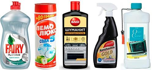 Бытовая химия для чистки духовки