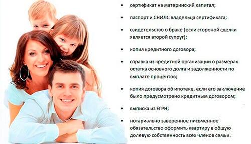 Перечень документов для погашения ипотеки маткапиталом