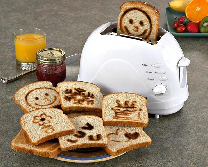 Рисунки на тосте