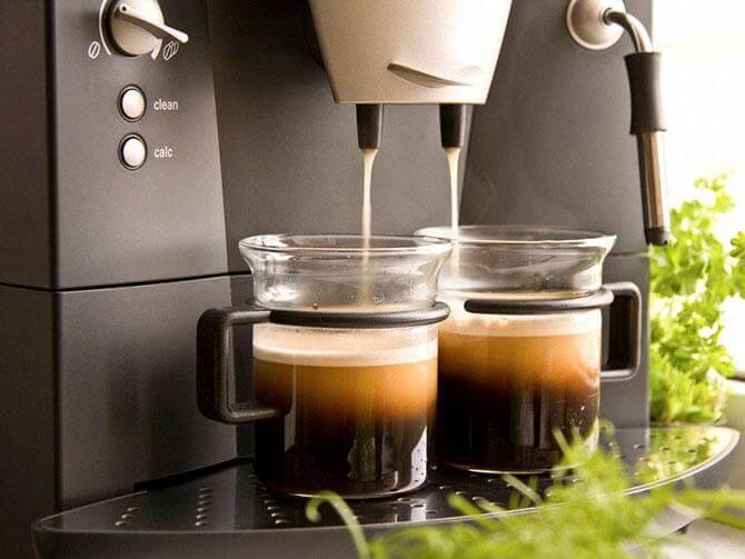 Прибор с одновременным приготовлением двух чашек кофе