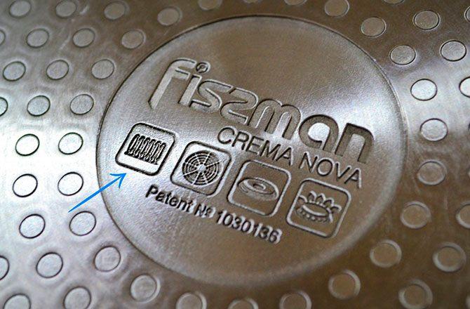 Знак на специальной посуде