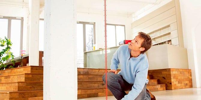 Проведение замеров высоты потолка