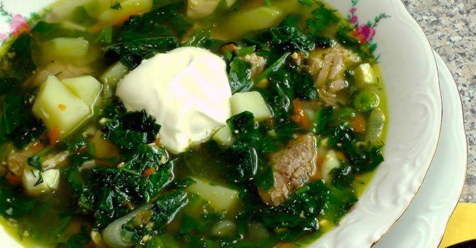 Щавелевый суп с тыквой