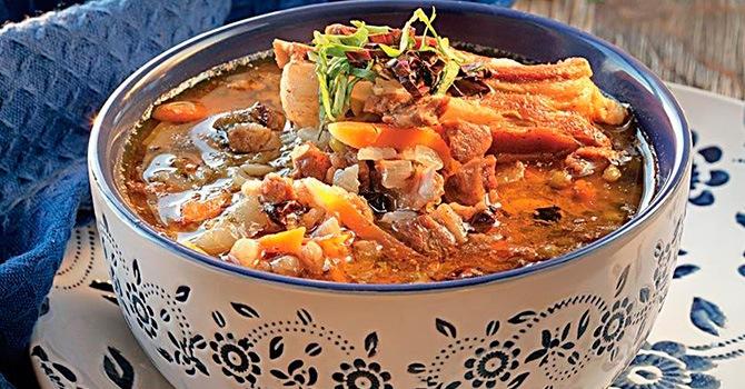 Узбекский суп с рисом