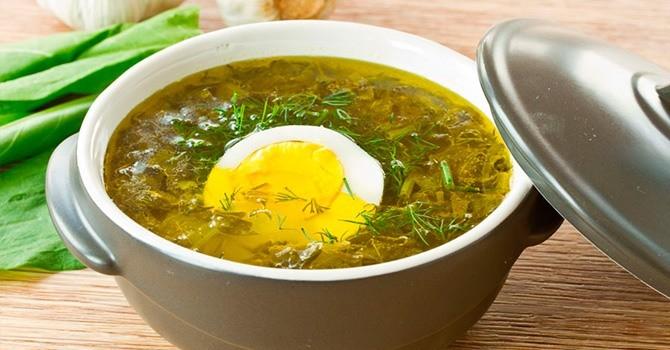 Щавелевый суп для вегетарианцев