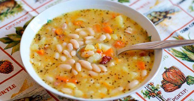 Фасолевый суп - классический рецепт приготовления