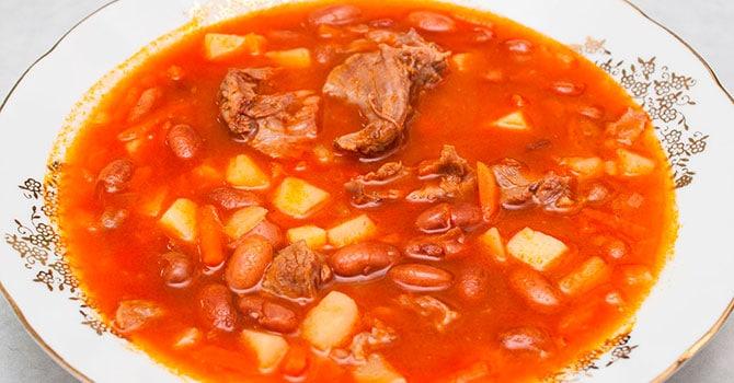 Первое блюдо с мясом
