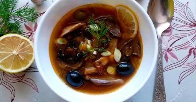 Солянка с грибами - пошаговый рецепт