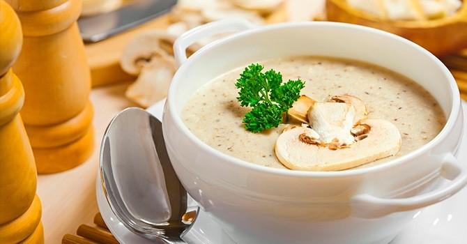 Рецепт крем-супа из шампиньонов со сливками