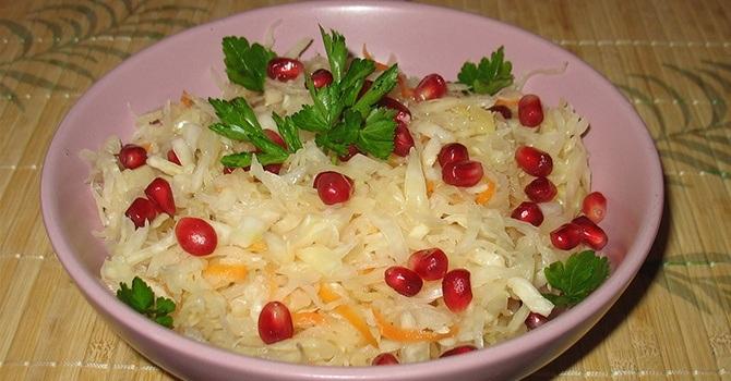 Рецепт с квашеной капустой