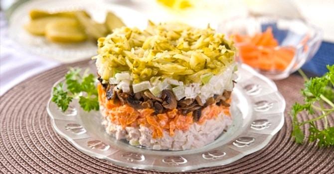 Рецепт салата Обжорка классический