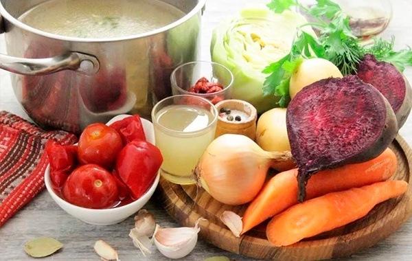 Классический борщ с чесноком - пошаговый рецепт с фото на Повар.ру