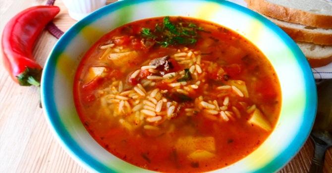 Рецепт с красным рисом