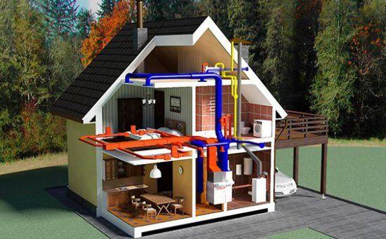 Системы отопления загородных домов