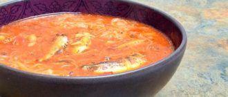 Рецепт супа из кильки