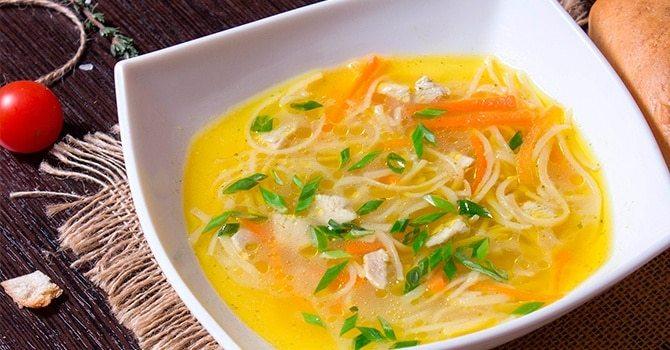 Рецепт супа с лапшой