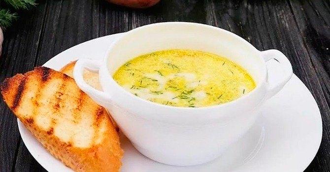 Рецепт сырного супа с плавленым сырком