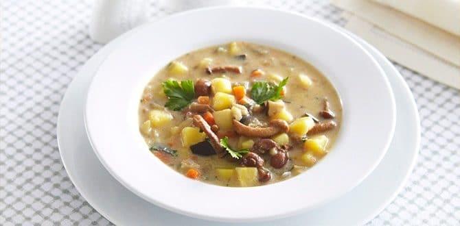 Рецепт грибного супа из опят