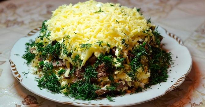Классический рецепт салата мужские слезы