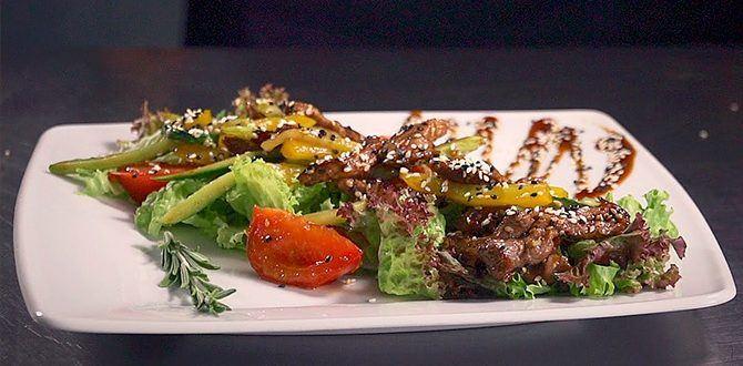 Рецепт салатов с телятиной
