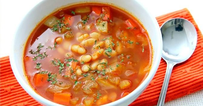 Рецепт супа из белой фасоли