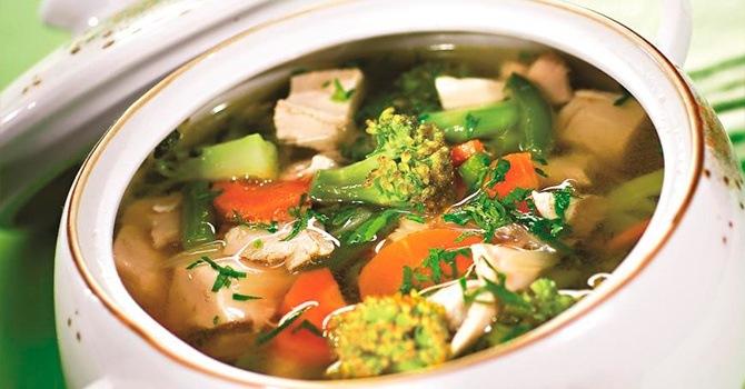Рецепт супа с брокколи и цветной капустой