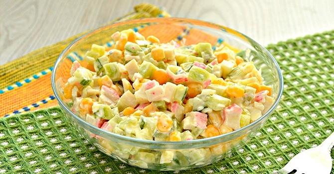 Рецепт крабового салата классический