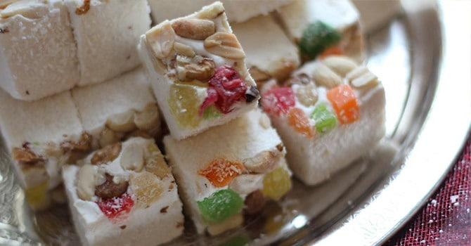 Рецепт нуги с орехами и цукатами