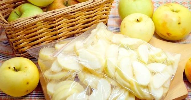 Замораживаем яблоки