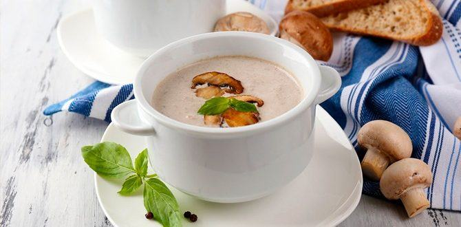 Рецепт грибного супа-пюре