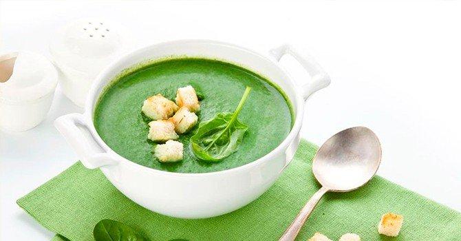 Рецепт супа-пюре из шпината