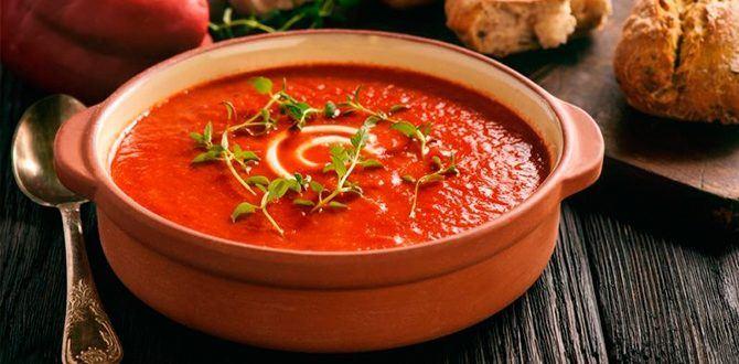 Рецепт томатного супа-пюре
