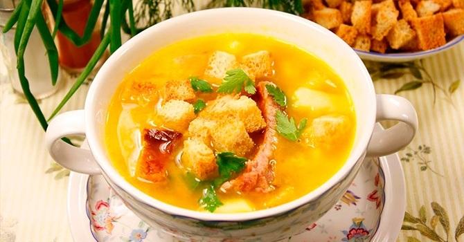 Рецепт супа из копченой курицы