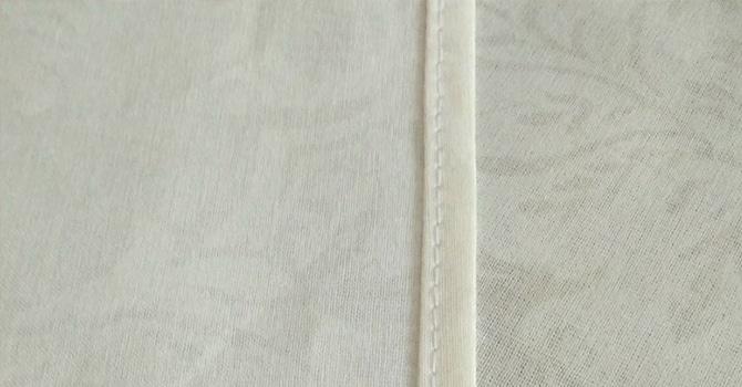 Ровный бельевой шов