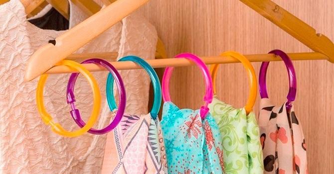 Удобное хранение шарфов