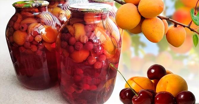 Рецепт из абрикосов с вишней