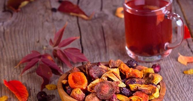 Рецепт из сушеных плодов