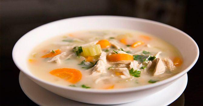 Рецепт куриного супа с сыром