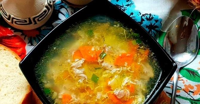 Рецепт куриного супа с яйцом