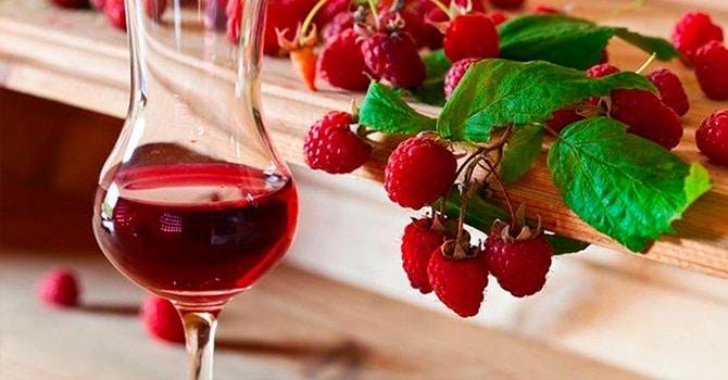 Вино с малиной