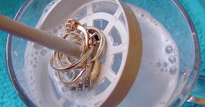 Проведем простую обработку золота в мыльном составе