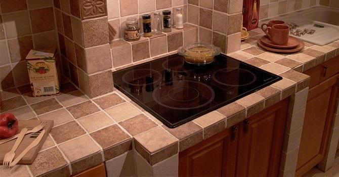 Необычное оформление керамической плиткой