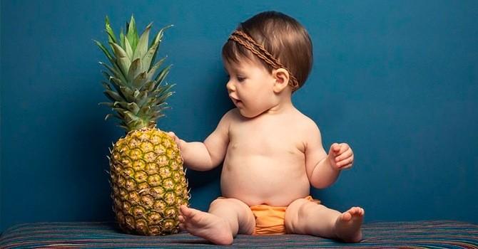 Дети любят сладкие ананасы