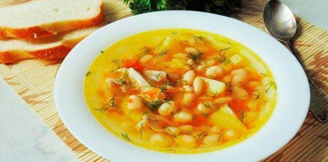 Приготовим куриного суп с фасолью