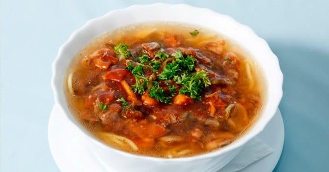 Рецепт с фасолью с грибами