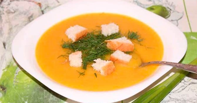 Чечевичный суп-пюре